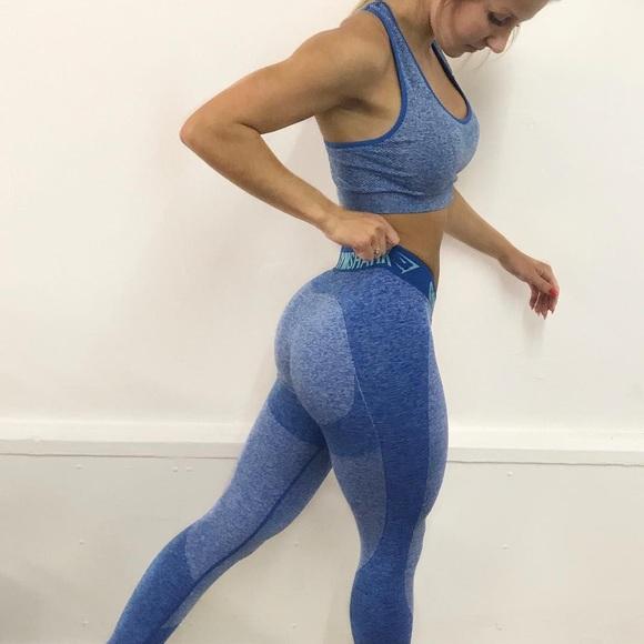 77f6bb6a25c2b5 Gymshark Pants - Gymshark Flex Leggings | Blueberry Marl (Small)